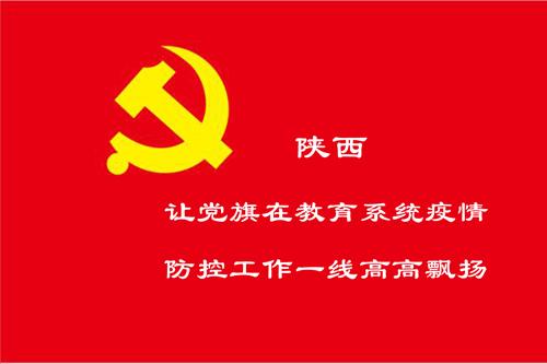 陕西:让党旗在教育系统疫情防控工作一线高高飘扬